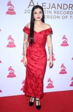 MON LAFERTE at 2017 Latin Recording Academy Person of the Year Awards in Las Vegas 11/15/2017