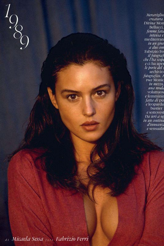 MONICA BELLUCI in Elle Magazine, Italy December 2017