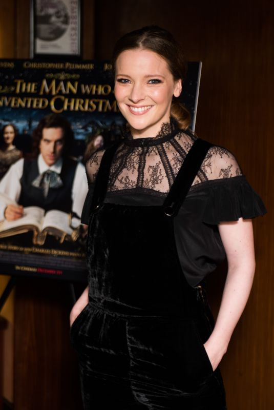 MORFYDD CLARK at The Man Who Invented Christmas Premiere in London 11/23/2017
