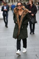 MYLEENE KLASS Arrives at Global Radio in London 11/01/2017