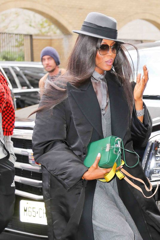 NAOMI CAMPBELL Out in New York 11/10/2017