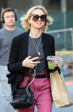 NAOMI WATTS Out in New York 11/02/2017