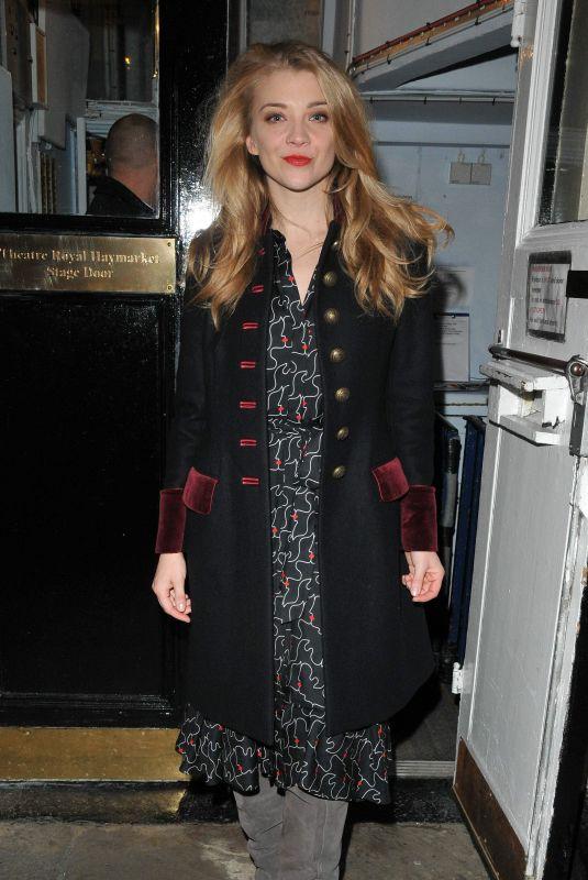 NATALIE DORMER Leaves Haymarket Theatre in London 11/23/2017
