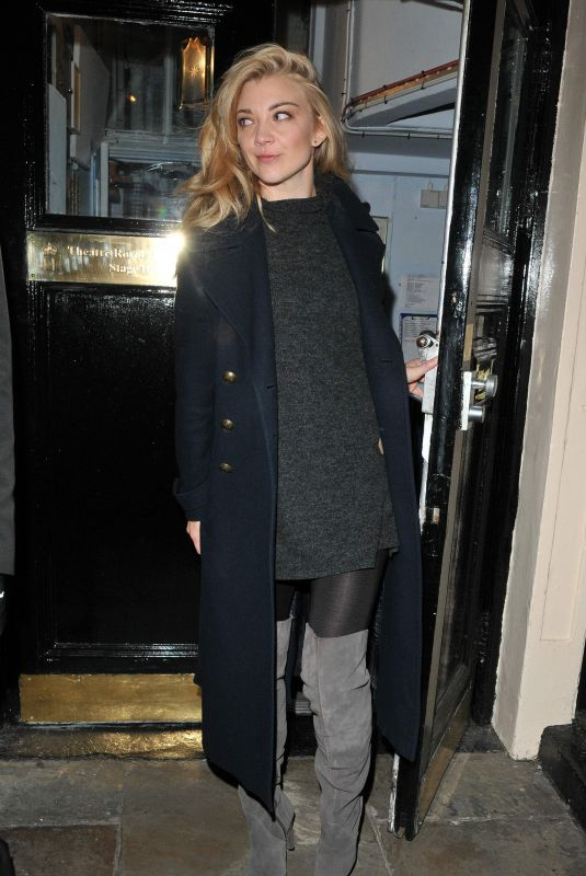NATALIE DORMER Leaves Theatre Royal Haymarket in London 11/01/2017