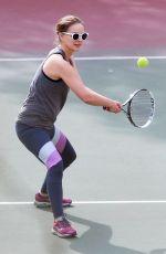 NATALIE PORTMAN at Morning Tennis Class in Los Feliz 11/15/2017