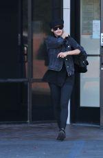 NAYA RIVERA Leaves a Bank in Los Feliz 11/14/2017