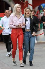 NICOLA PELTZ Out Shopping at The Grove in Hollywood 11/16/2017