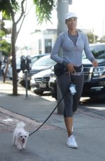 NICOLE MURPHY Out with Her Dog in West Hollywood 11/18/2017