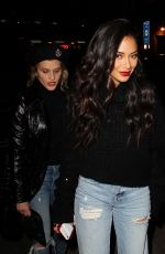 NICOLE SCHERZINGER and ASHLEY ROBERTS Night Out in London 11/02/2017