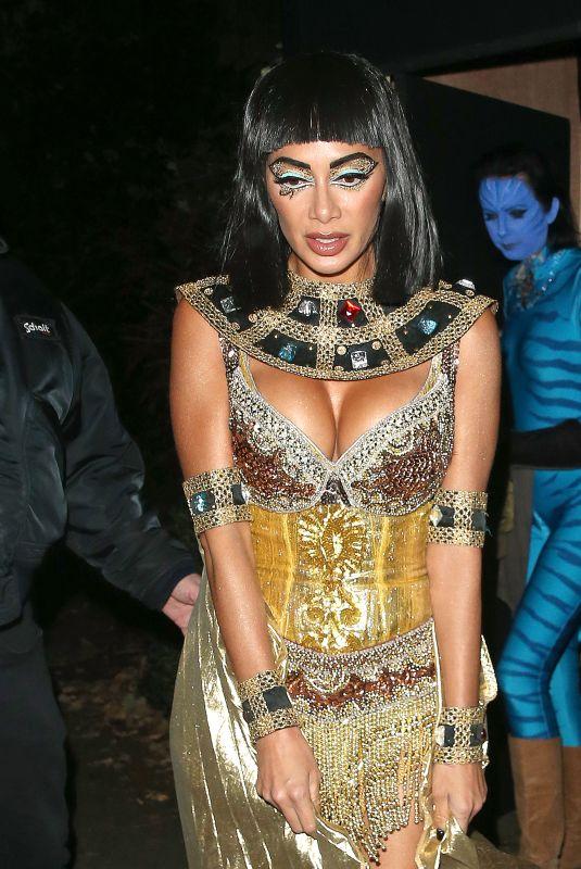 NICOLE SCHERZINGER as Cleopatra at Jonathan Ross's Halloween Party in London 10/31/2017
