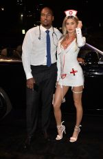 NICOLE WILLIAMS and Larry English at Treats! Magazine 7th Annual Halloween Party in Los Angeles 10/31/2017