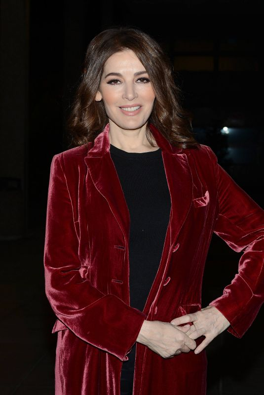 NIGELLA LAWSON Arrives at Late Late Show in Dublin 11/03/2017