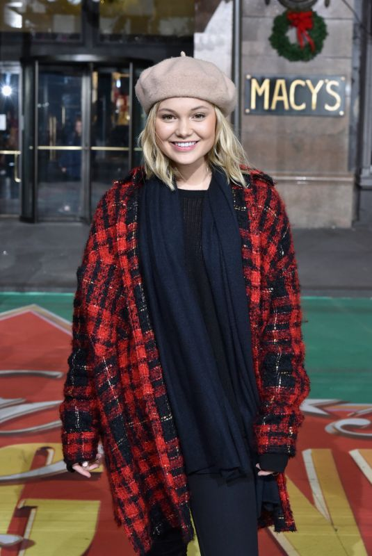 OLIVIA HOLT at Macy's Thanksgiving Day Parade Rehearsals in New York 11/21/2017