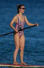 OLIVIA WILDE in Swimsuit Paddleboarding in Hawaiian 11/20/2017