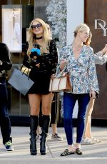PARIS and NICKY HILTON Out Shopping in Beverly Hills 11/20/2017