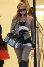 PARIS HILTON Shopping at Barneys New York in Beverly Hills 11/12/2017