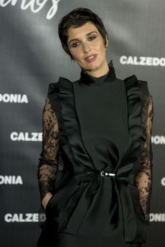 PAZ VEGA at 25th Calzedonia Anniversary Party in Madrid 11/23/2017