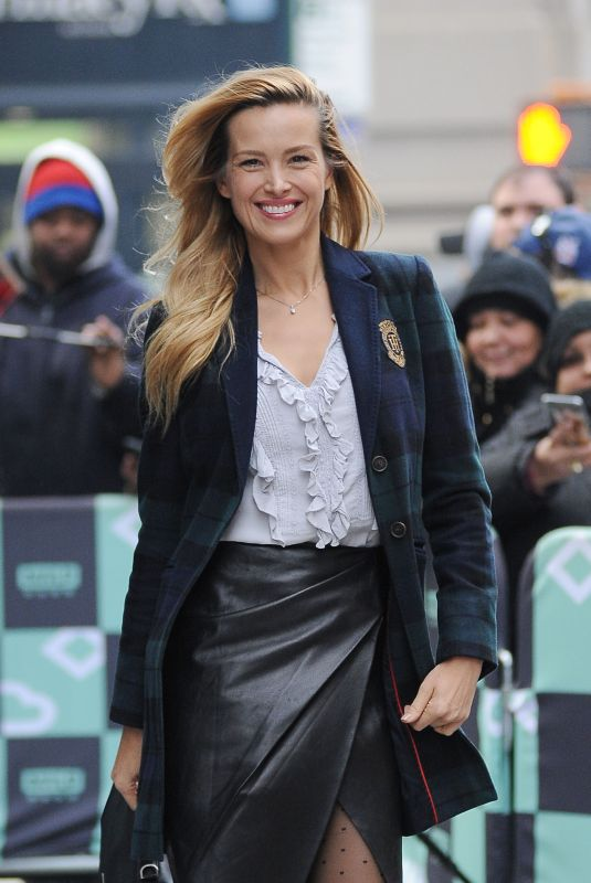PETRA NEMCOVA Arrives at AOL Build in New York 11/14/2017