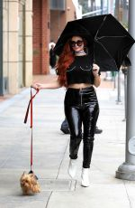 PHOEBE PRICE Out and About in Beverly Hills 10/31/2017