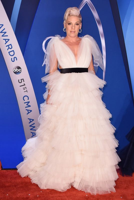 PINK at 51st Annual CMA Awards in Nashville 11/08/2017