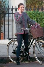 PIPPA MIDDLETON Out on Her Bike in Chelsea 11/08/2017