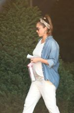 Pregnant JESSICA ALBA and Cash Warren Shopping for a Christmas Tree in Los Angeles 11/24/2017