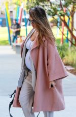 Pregnant JESSICA ALBA Out and About in Los Angeles 11/07/2017