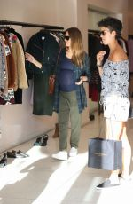 Pregnant JESSICA ALBA Out Shopping in Beverly Hills 11/26/2017