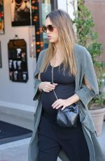 Pregnant JESSICA ALBA Out Shopping in West Hollywood 11/22/2017