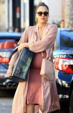 Pregnant JESSICA ALBA Sopping at Rodeo Drive in Beverly Hills 11/25/2017