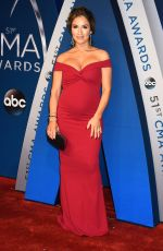 Pregnant JESSIE JAMES at 51st Annual CMA Awards in Nashville 11/08/2017