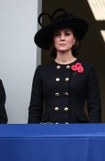 Pregnant KATE MIDDLETON at Annual Remembrance Day Ceremony in London 11/11/2017