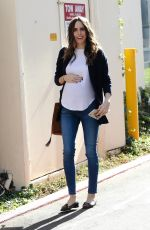 Pregnant LOUISE ROE Leaves Drybar in West Hollywood 11/21/2017