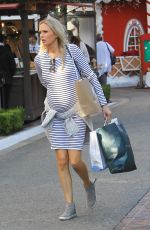 Pregnant MELISSA ORDWAY Out Shopping at The Grove 11/17/2017
