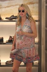 Pregnant NICKY HILTON Out Shopping in Beverly Hills 11/22/2017