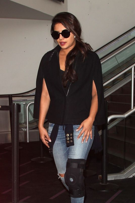 PRIYANKA CHOPRA at LAX Airport in Los Angeles 11/10/2017