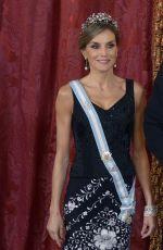 QUEEN LETIZIA OF SPAIN at Gala Dinner in Honor of President of Israel in Madrid 11/06/2017