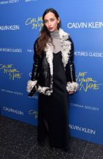 REBECCA DAYAN at Call Me by Your Name Screening in New York 11/16/2017