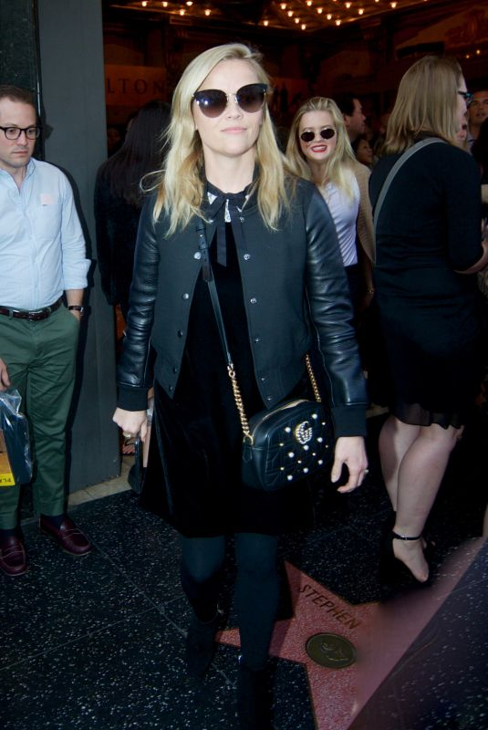 REESE WITHERSPOON and AVA PHILLIPPE Leaves Hamilton Play at Pantages Theatre in Hollywood 11/19/2017