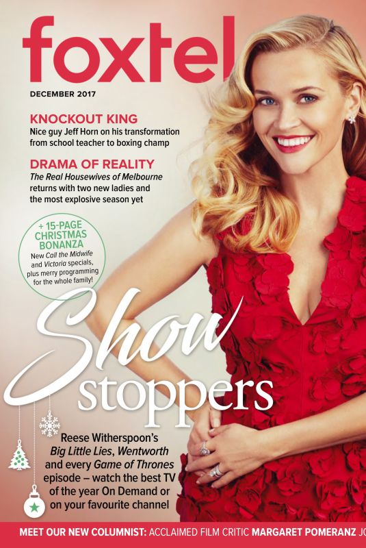 REESE WITHERSPOON in Foxtel Magazine, December 2017