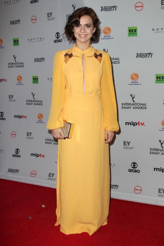 RENATA GASPAR at 2017 International Emmy Awards in New York 11/20/2017