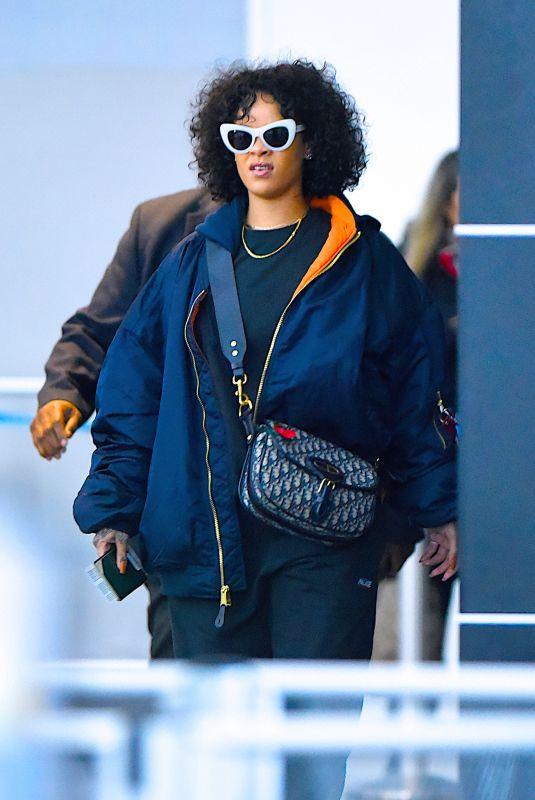 RIHANNA at JFK Airport in New York 11/05/2017