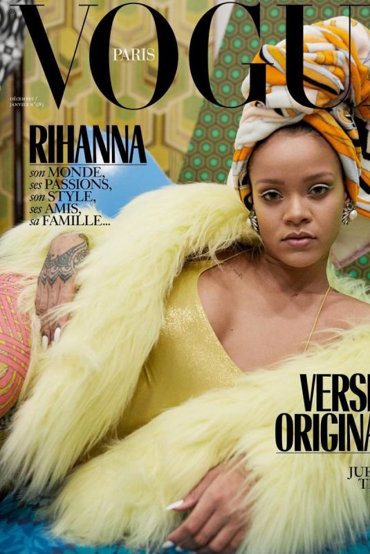 RIHANNA in Vogue Magazine, December 2017/January 2018