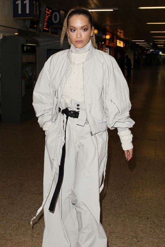 RITA ORA at Euston Station in London 11/10/2017