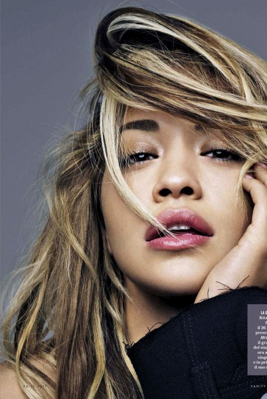 RITA ORA in Vanity Fair Magazine, December 2017