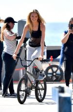 ROMEE STRIJD and JOSEPHINE SKRIVER on the Set of a Photoshoot on Venice Beach 11/03/2017