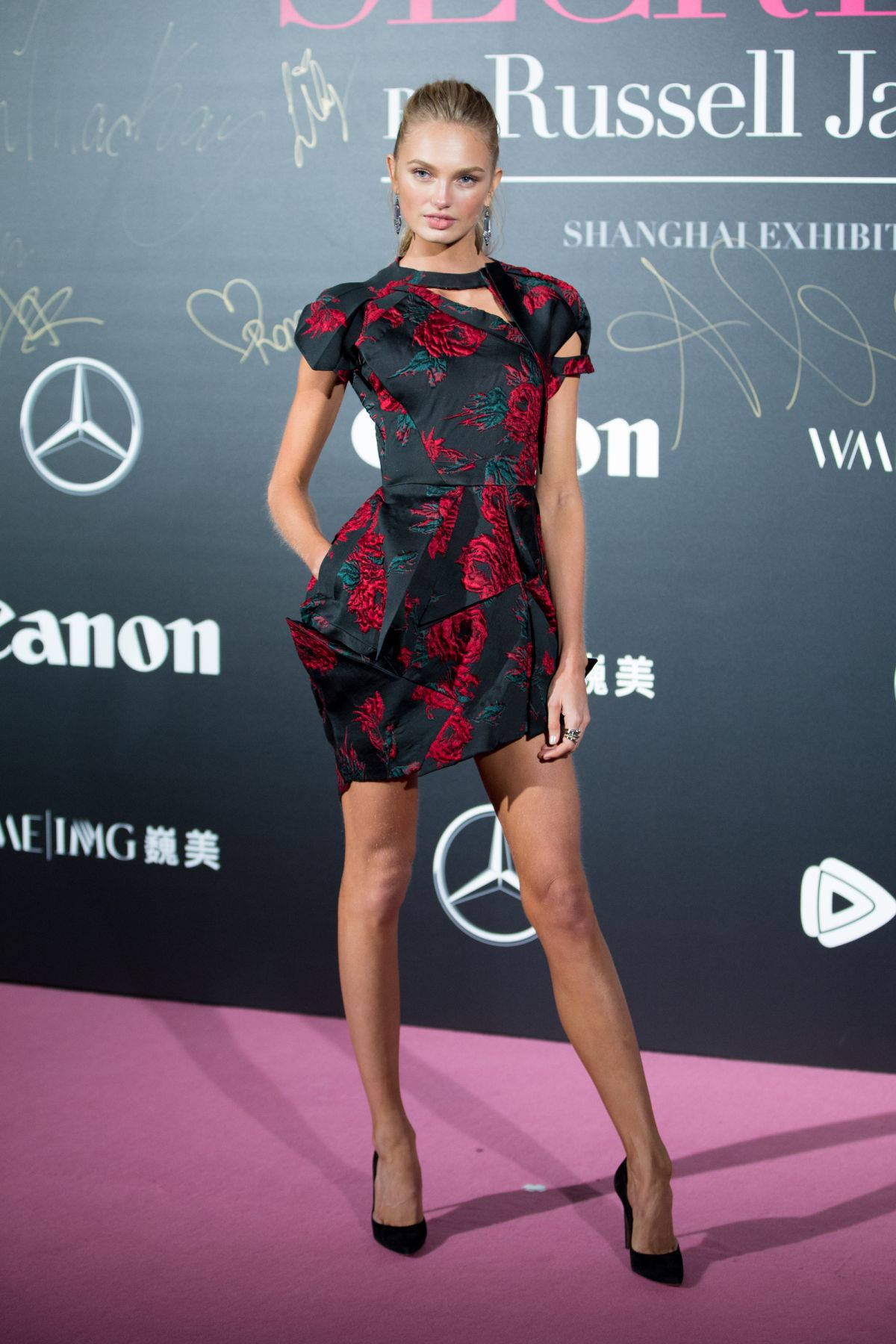 Romee Strijd Romee-strijd-at-mercedes-benz-backstage-secrets-by-russell-james-book-launch-and-shanghai-exhibition-opening-party-11-18-2017-6