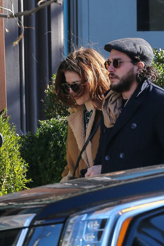 ROSE LESLIE and Kit Harington Out in New York 11/20/2017