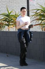 ROSE MCGOWAN Out and About in Los Angeles 11/7/2017