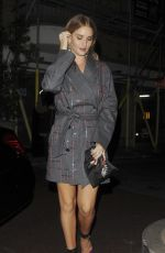 ROSIE HUNTINGTON-WHITELEY Night Out  in London 11/15/2017